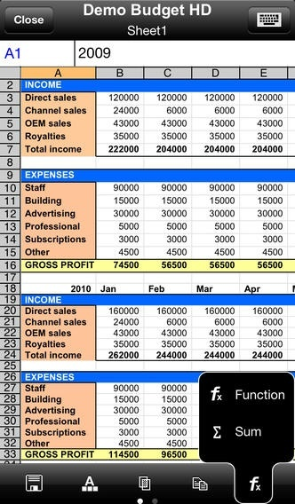 A legjobb ingyenes táblázatkezelők mobilra Sheet2