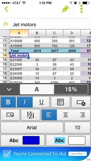 A legjobb ingyenes táblázatkezelők mobilra documents to go