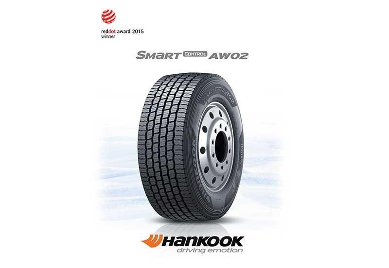 A Hankook Tire gumiabroncs gyártó Smart Control AW02 gumiabroncsa a Red Dot termékdizájn díjat nyerte el.
