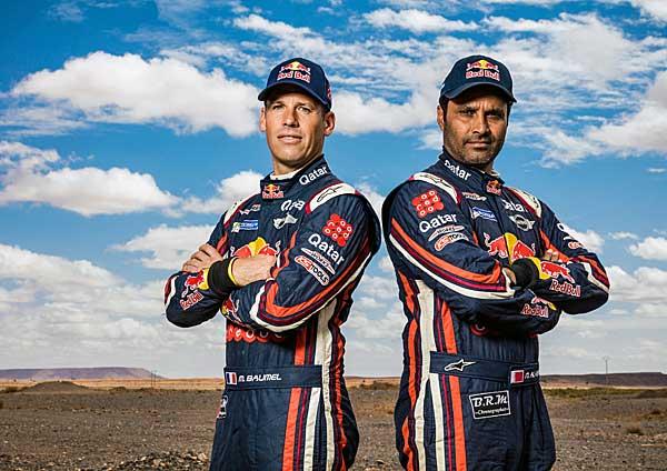 2016 Dakar Rally Nasser Al Attiyah és Mathieu Baumel az abszolút 3 helyezett