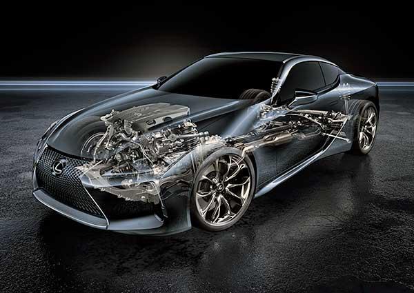 Új luxuskupé a Lexus LC 500 röntgenkép