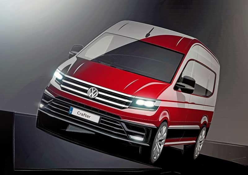 Korszerű stílust képvisel a modern Volkswagen Crafter