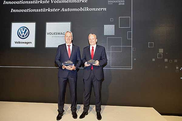 AutomotiveINNOVATIONS Award 2018 a Volkswagen-nek