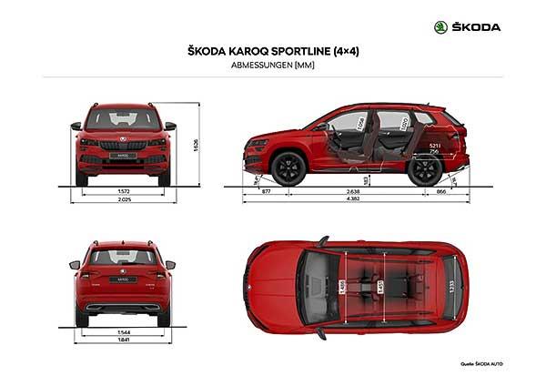 Škoda KAROQ SPORTLINE – A korszerű sportos SUV-modell