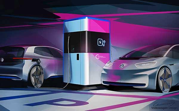 A Volkswagen a korszerű évvel przentálja mobil elektromos töltőállomás rendszerét