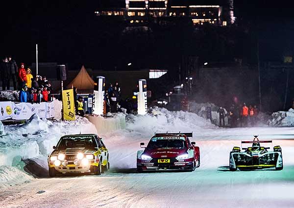 Az Audi pilótái havon és jégen nyűgözték le a közönséget