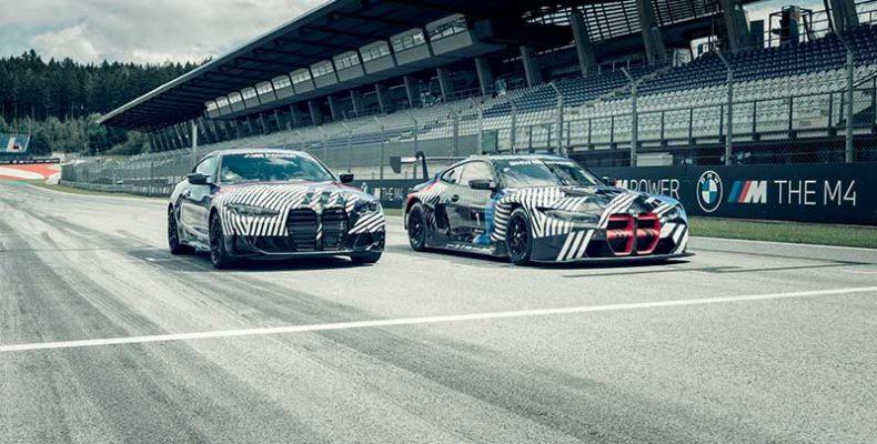 Közútról a versenypályára: együtt villantak meg az új BMW M4 Coupé és az új BMW M4 GT3 prototípusai