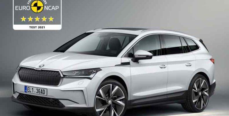 Ötcsillagos minősítést szerzett a korszerű Škoda Enyaq iV az Euro NCAP tesztjein
